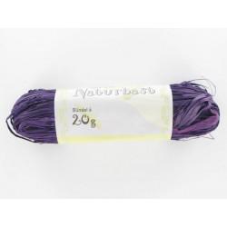 Naturbast, violett, 50g