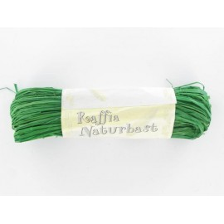 Naturbast, dunkelgrün, 20g