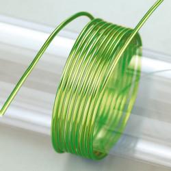 Aludraht hellgrün, 2mm, 5m