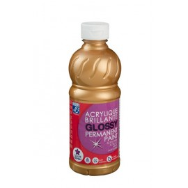 Glossy, 500ml,  gold