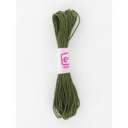 Baumwollkordel gewachst, olive, Ø 1mm / 6m