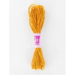 Baumwollkordel gewachst, gelb, Ø 2mm / 6m
