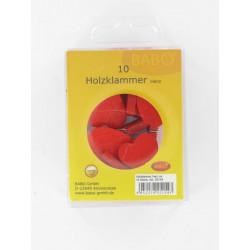 Holzklammer Herz, 30mm, 10Stk.