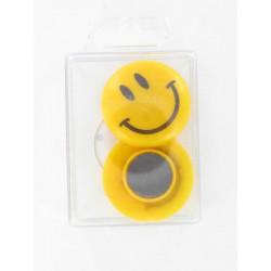 Magnet Smiley, Ø 4cm, 2Stk.