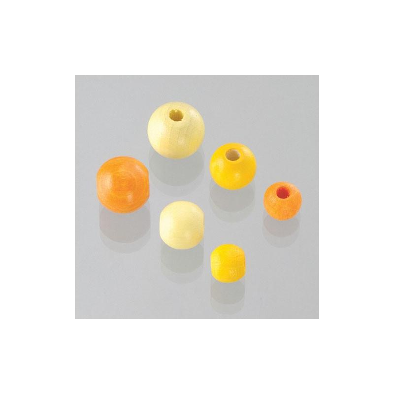 Holzkugeln Grössenmix, gelb