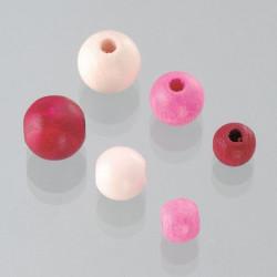 Holzkugeln Grössenmix, pink