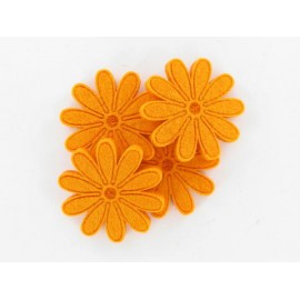 Filzblumen orange, Ø 45mm, 4Stk.