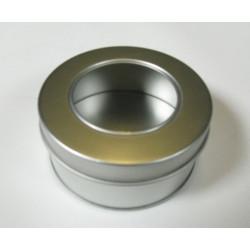 Metalldose rund, mit Sichtfenster, Ø 85x40mm, 1Stk.