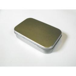 Metalldose rechteck, 95/60x21mm, 1Stk.