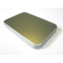 Metalldose rechteck, 165/110x23mm, 1Stk.