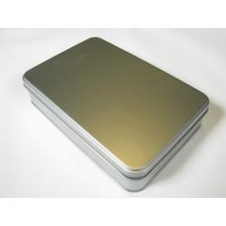 Metalldose rechteck, 182/127x28mm, 1Stk.