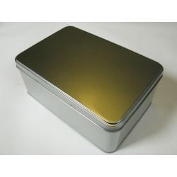 Metalldose rechteck, 187/126x75mmmm, 1Stk.