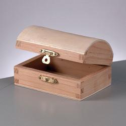 Holztruhe, 9.5x6.5x5.3cm