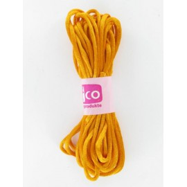 Flechtkordel satin, orange, 2mm, 6m
