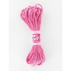 Flechtkordel satin, pink, 2mm, 6m