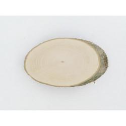 Rindenscheibe oval, 10-13x7cm