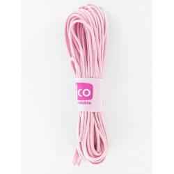 Baumwollkordel gewachst, rosa, Ø 1mm / 6m