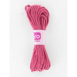 Baumwollkordel gewachst, pink, Ø 1mm / 6m