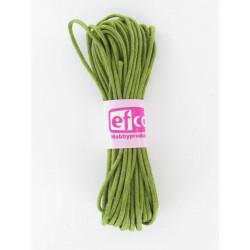 Baumwollkordel gewachst, grün, Ø 1mm / 6m