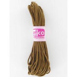Baumwollkordel gewachst, braun, Ø 1mm / 6m