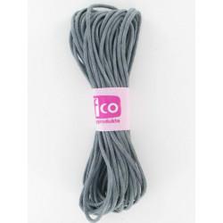 Baumwollkordel gewachst, grau, Ø 1mm / 6m