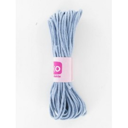 Baumwollkordel gewachst, hellblau, Ø 2mm / 6m