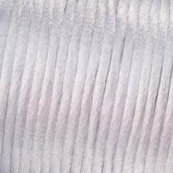Flechtkordel Satin, 2mm, weiss