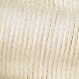 Flechtkordel Satin, 2mm, creme