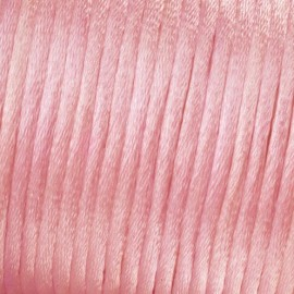 Flechtkordel Satin, 2mm, rosa
