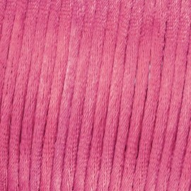 Flechtkordel Satin, 2mm, pink