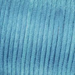Flechtkordel Satin, 2mm, hellblau