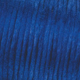 Flechtkordel Satin, 2mm, blau