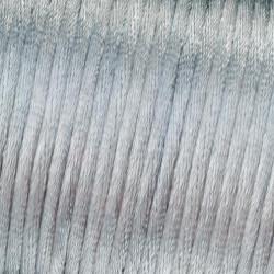 Flechtkordel Satin, 2mm, hellgrau