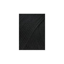 Wolle Baby Cotton, schwarz, 50g/180m