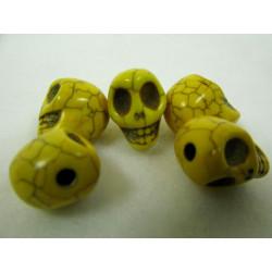 Schädel, gelb, 12mm, 5Stk.