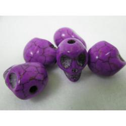 Schädel, violett, 12mm, 5Stk.