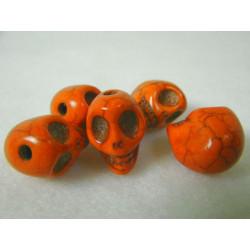 Schädel, orange, 12mm, 5Stk.