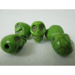 Schädel, grün, 12mm, 5Stk.