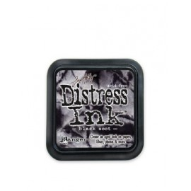Distress Ink, Black Soot, 5x5cm
