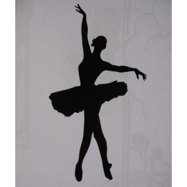 "Clearstamp ""Ballerina"", 70x35mm"