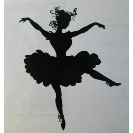 "Clearstamp ""Dancer with Poise"", 60x50mm"