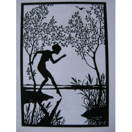 """Clearstamp """"Dippy Toe"""", 100x70mm"""