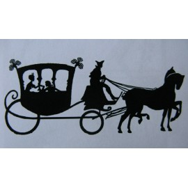 "Clearstamp ""Carriage"", 30x75mm"