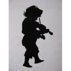 "Clearstamp ""Violinist"", 50x25mm"