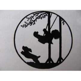 "Clearstamp ""Boy on a Swing"", 43x43mm"