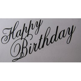 "Clearstamp ""Happy Birthday"", 36x64mm"