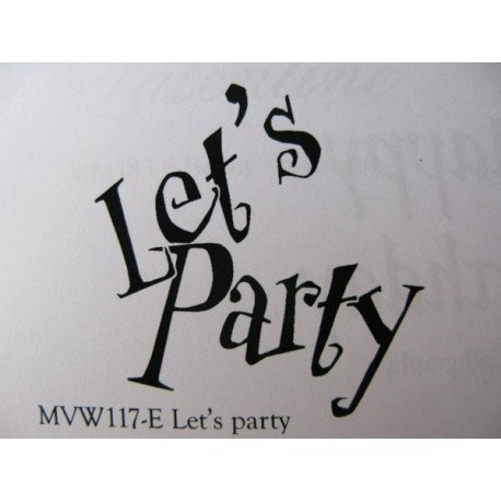 """Clearstamp """"Let's Party"""", 48x45mm"""