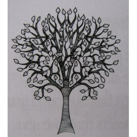 "Clearstamp ""Small Pear Tree"", 35x30mm"