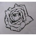 "Clearstamp ""Rose"", 62x63mm"