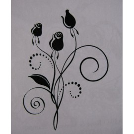 "Clearstamp ""Rose Swirl"", 70x55mm"